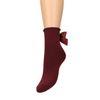 Bordeaux rode sokken met strik