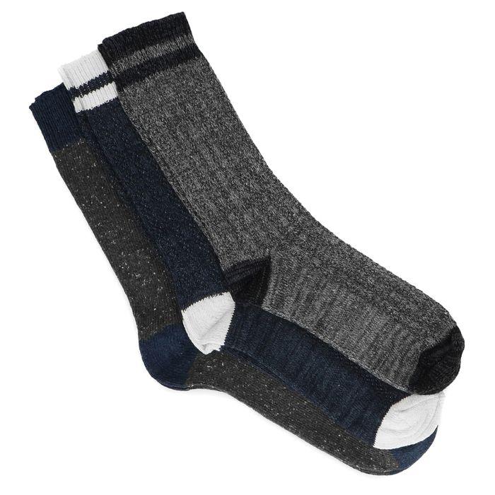 3er-Set dunkelblaue Socken