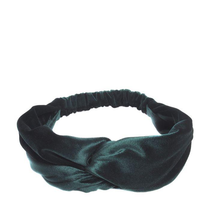 Dunkelgrünes Samt-Haarband