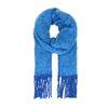 Kobalt blauwe gebreide sjaal
