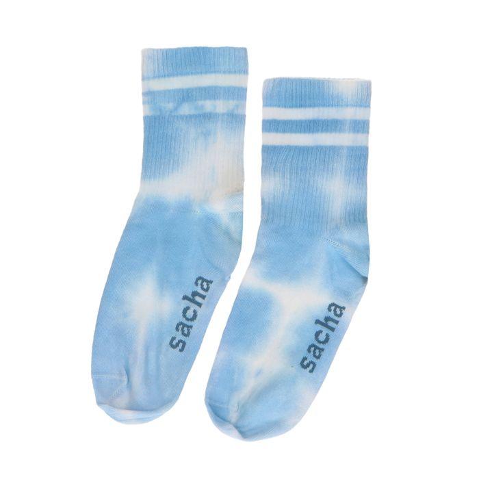 Blauwe tie-dye sokken