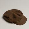 Camelkleurige boy cap met gouden hardware