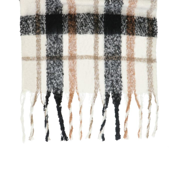 Off white geruite sjaal