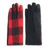 Rode handschoenen met print