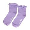 Lichtpaarse sokken met ruffles
