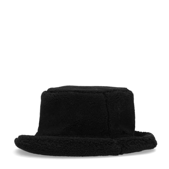 Zwarte teddy bucket hat