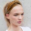Velvet gele haarband
