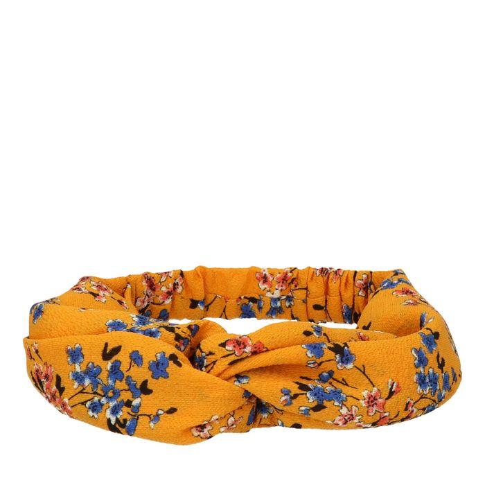 Gele haarband met bloemen