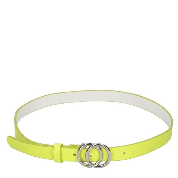 Neongelber Gürtel mit Ringen