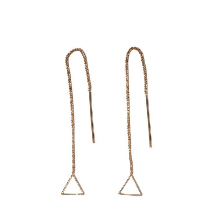 Dreiecks-Ohrhänger gold