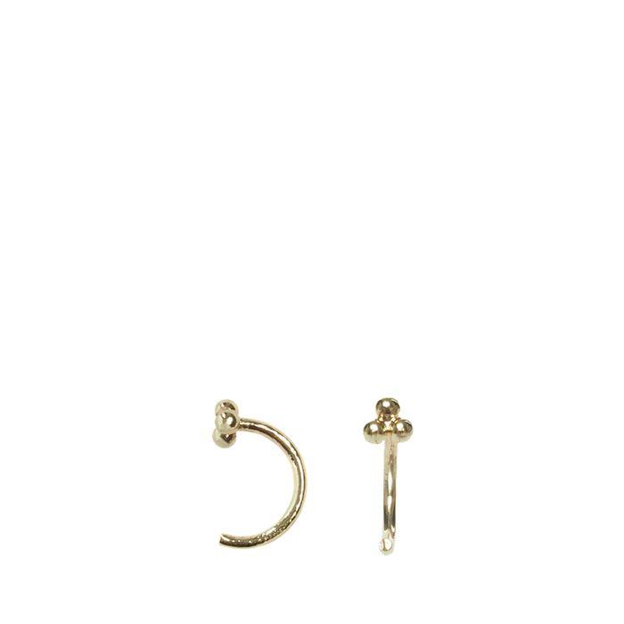 Goldfarbene Ohrringe mit drei Kügelchen