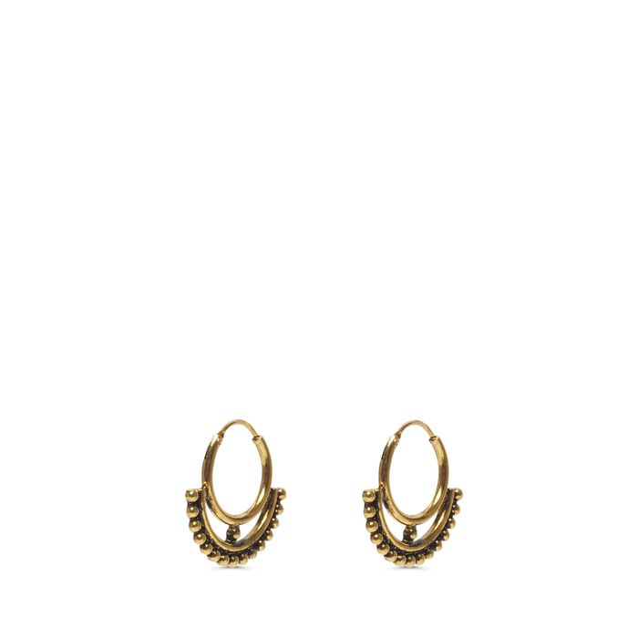 Goldfarbene Ohrringe mit Kügelchen