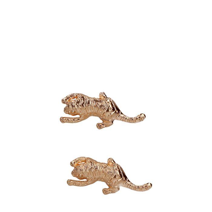 Goldener Anstecker mit Leopard