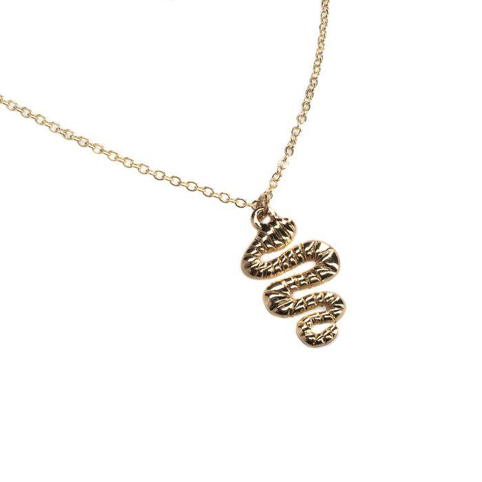 Goldene Kette mit Schlangen-Anhänger