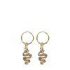 Goldfarbene Ohrringe mit Schlangen-Anhänger