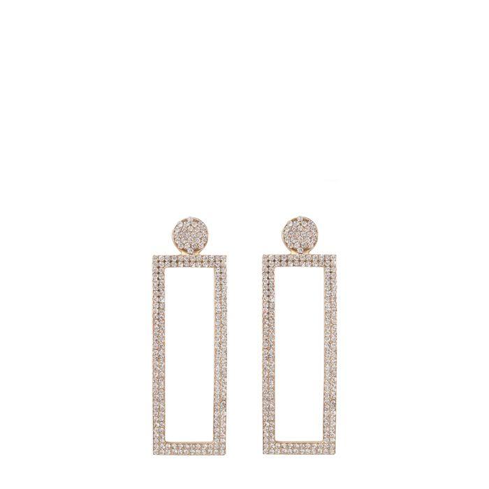 Sacha x Goldiloks Viereckige Ohrringe mit Glitzer-Steinchen