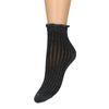 Schwarze Glitzer-Socken