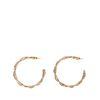 Goldfarbene geschwungene Ohrringe