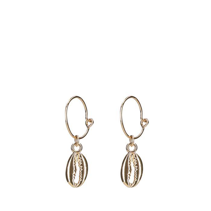 Goldfarbene Ohrringe mit Muscheln