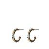 Goldfarbene Ohrringe mit farbigen Steinchen