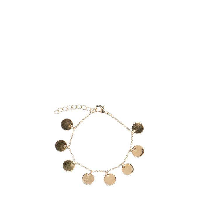 Goldfarbenes Armband mit Kreisen