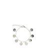 Silberfarbenes Armband mit Kreisen