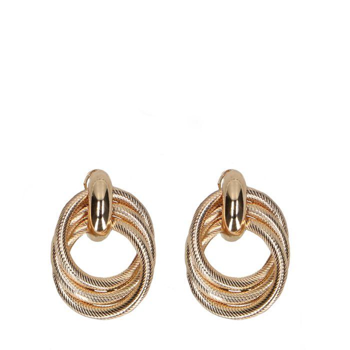 Goldene Ohrringe mit Knoten