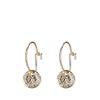 Goldene Ohrringe mit Münz-Anhänger