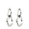Silberne Ohrringe mit zwei Ringen