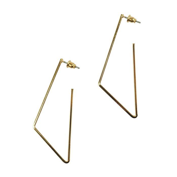 Geometrische Ohrringe gold