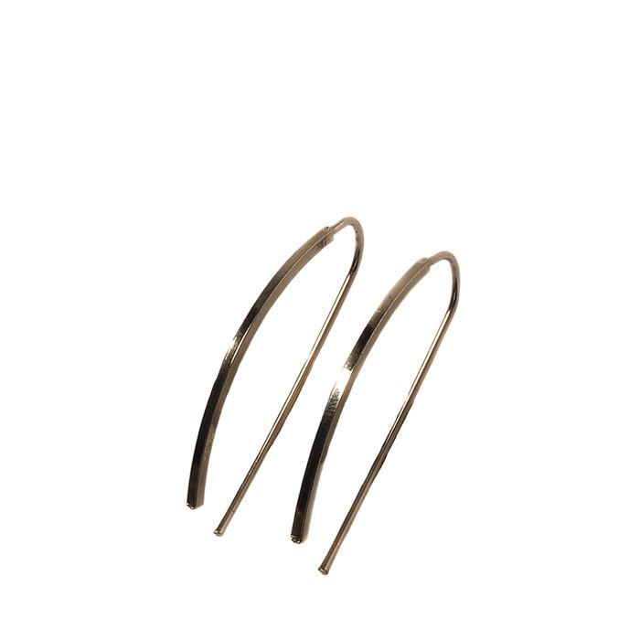Minimalistische doortrek oorbellen goud