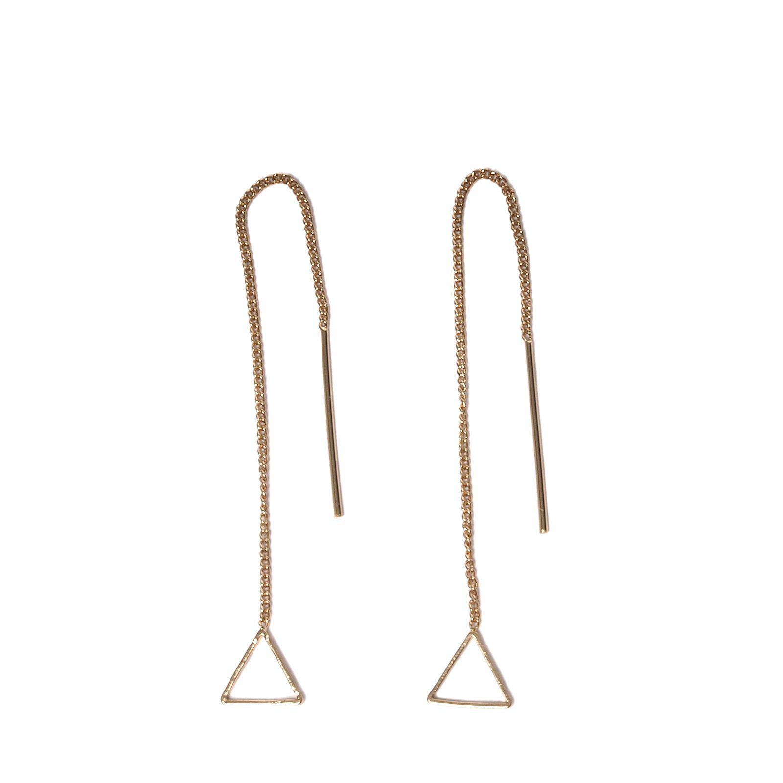 Gouden oorbellen triangel