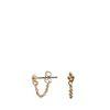 Dots goudkleurige oorbellen met chain