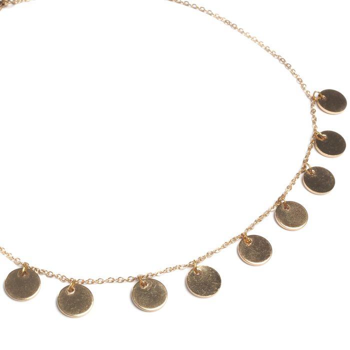 Goudkleurige ketting met cirkels