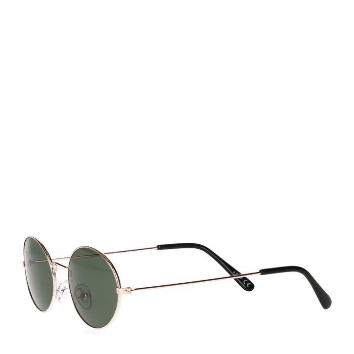 Zonnebril met kleine ovale glazen goud