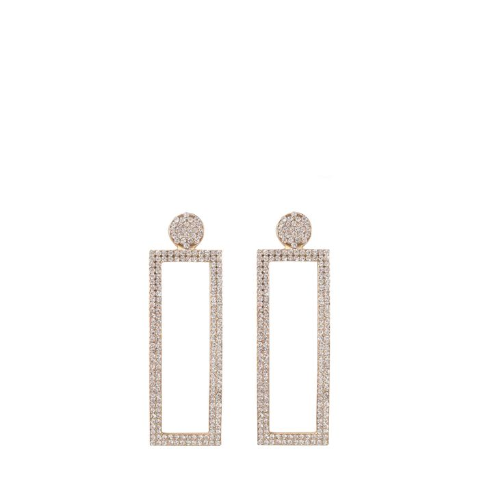 Sacha x Goldiloks vierkante oorbellen met diamanten