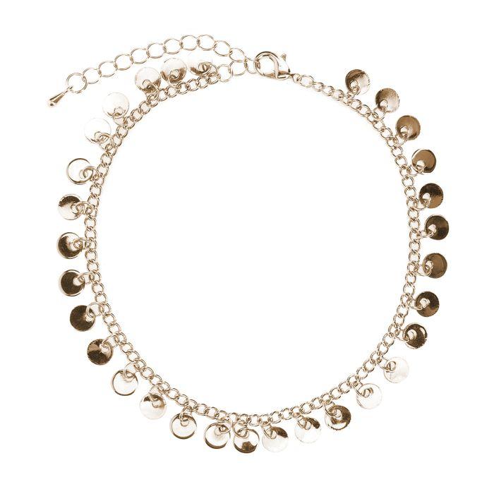 Goudkleurig enkelbandje met cirkels
