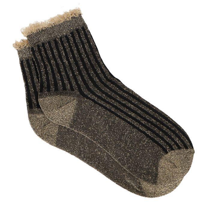 Gouden sokken met glitters