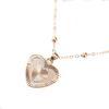 Goudkleurige ketting met hanger hart