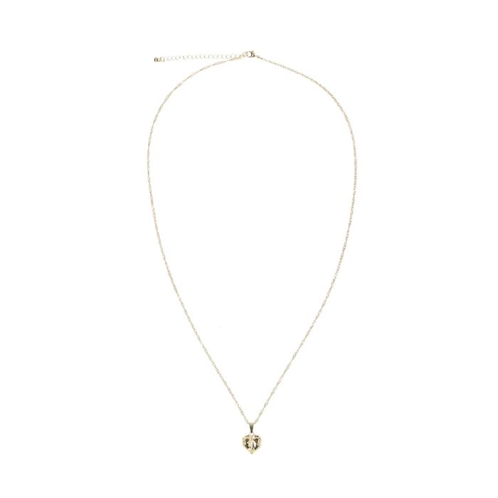 Goudkleurige ketting met hartvormige hanger