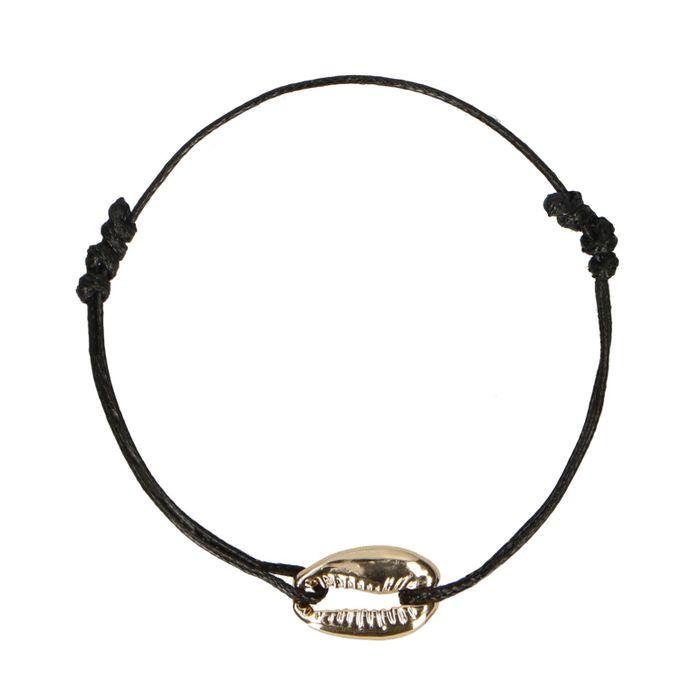 Armband met gouden schelp