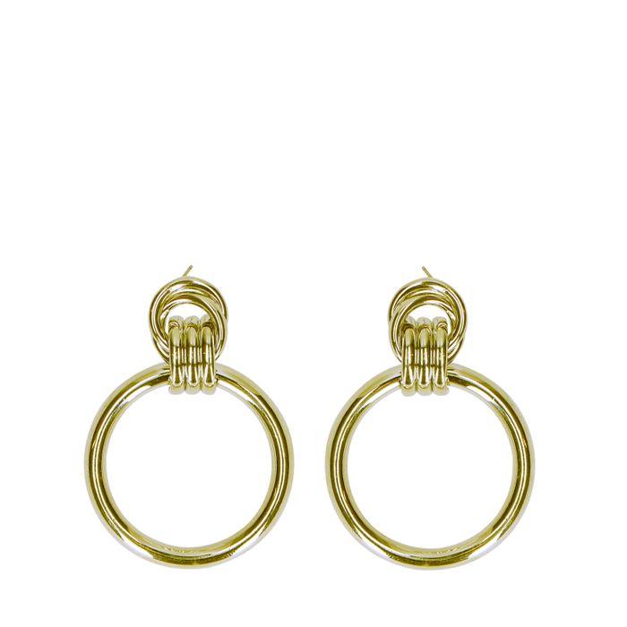 Goudkleurige oorbellen hoops