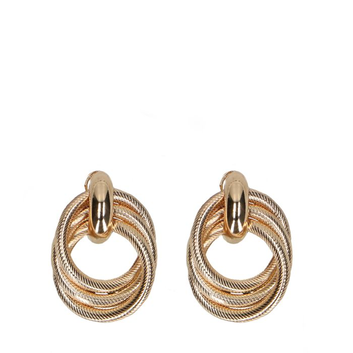 Grote goudkleurige oorbellen met knoop