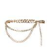 Chunky gold chain belt