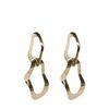 Goudkleurige oorbellen met twee ringen