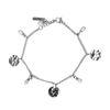 zilverkleurig armbandje met hangers