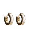 goudkleurige oorbellen met steentjes