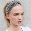 Samt-Haarband grau
