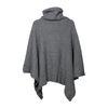Poncho tricoté - gris