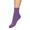 Paarse glitter sokken met stippen